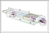 标准形状横梁伸缩式钢板护罩设计图