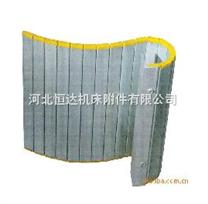 河北盐山铝帘生产厂,铝合金导轨防护帘,竞技宝导轨耐高温防尘防铁屑保护帘