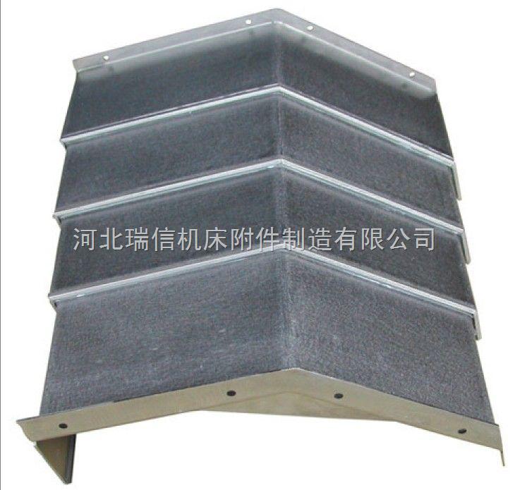高速机床钢板导轨防护罩结构 河北瑞信机床附件制造有限公司