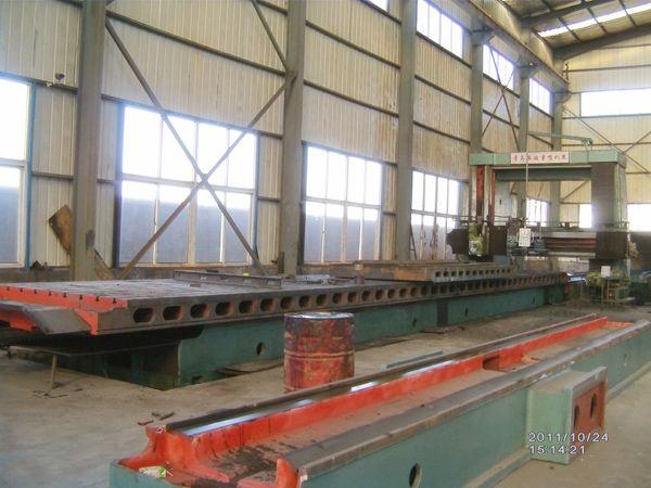 重型龙门刨铣床机身导轨中心距1200厂