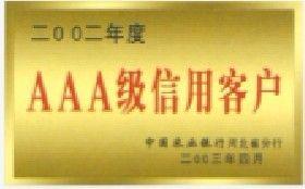 2002年度AAA级信用客户